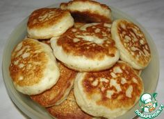 Оладьи на манной крупе - кулинарный рецепт Kids liked it a lot, I used around 3 cups of  50/50 mix of flour and cream of wheat