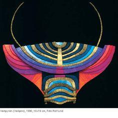 The gorgeous silk jewellery by Sonja Hahn Ekberg (1921-2008). Here Vampyren (the Vampire). Photo: Rolf Lind