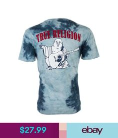 e85465fae3c T-Shirts True Religion Mens T-Shirt Tie Dye Buddha Ocean Waves Blue  79