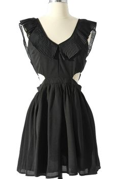 Layla Cutout Ruffle Dress in Black