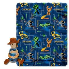 Disney Toy Story Action Woody 40-Inch-by-50-Inch Fleece Blanket with Character Pillow by The North @ niftywarehouse.com #NiftyWarehouse #Toy #Story #Movie #ToyStory #Pixar