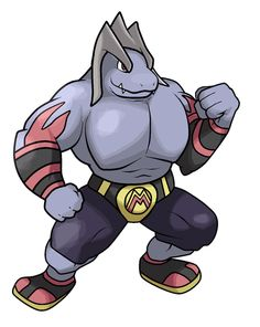 Machop —> Machoke —> Mawresler Evolves from Machoke when traded with a King's Rock. Fighting Source. Artist: Pokemon-Diamond