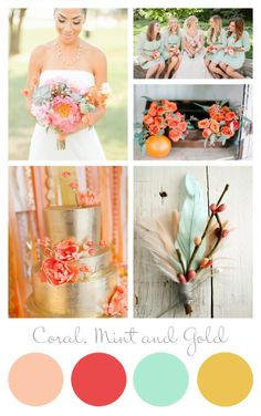 Wedding Inspiration: Coral, Mint, and Gold @ Paper Muse Press
