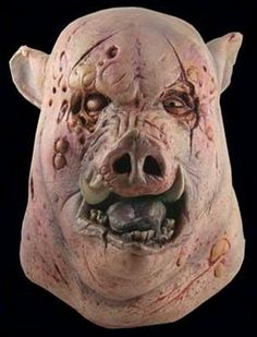 The Butcher - This boar is full of attitude. Over-sized, full over the head latex mask, individually hand painted for the most realistic look possible.