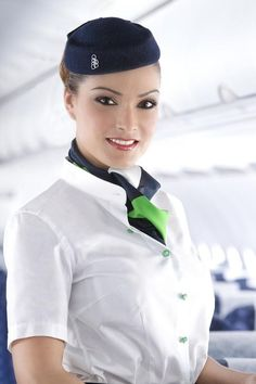 The Crew aka Olympic Style! Air France, Olympic Airlines, Air Hostess Uniform, Flight Attendant Hot, Pilot Uniform, Airline Cabin Crew, Airline Uniforms, Female Pilot, Girls Uniforms