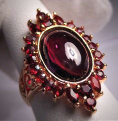 Vintage Garnet Ring Antique Victorian Style by AawsombleiJewelry, $248.00  OH MY GOODNESS!!!  I think I like it!