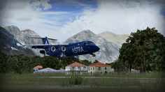 City of Gilgit - MSK - review (4*) • C-Aviation #Pakistan #Gilgit #Karakorum # BAe146