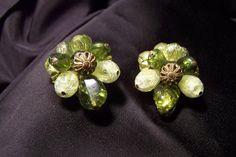 Vintage Cluster Earrings Costume Jewelry by JewelsAndMyGirls3, $6.00