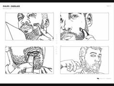 Kleiner Ausschnitt des Viven-Storyboards für den Philips OneBlade Social-Media Clip  #hcdavos #philips #oneblade #socialmedia #werbung #bart #trimmen #rasieren #konturen #hcdavos #philipsschweiz #icehockey #dreh #vivengmbh #produktion #zürich #schweiz #storyboard