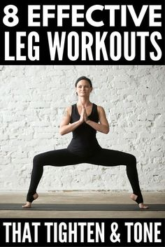 8 Slimming Leg Workouts You Can Do Anywhere | Want to know how to get skinny legs fast? You're in luck! Whether you like to workout at the gym or at home, we've got 8 no equipment workout videos for women to help you tighten and tone your inner and outer thighs and get sexy, skinny legs. Perfect for beginners, runners, and everyone in between, we've even included a 30-day thigh slimming challenge to keep you motivated! #legworkout #legsfordays #weightloss #workout #burnfat