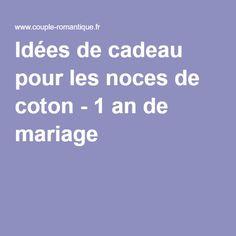 cadeau 1 an de mariage noces de coton cadeau noces de coton 1 an de mariage pinterest. Black Bedroom Furniture Sets. Home Design Ideas
