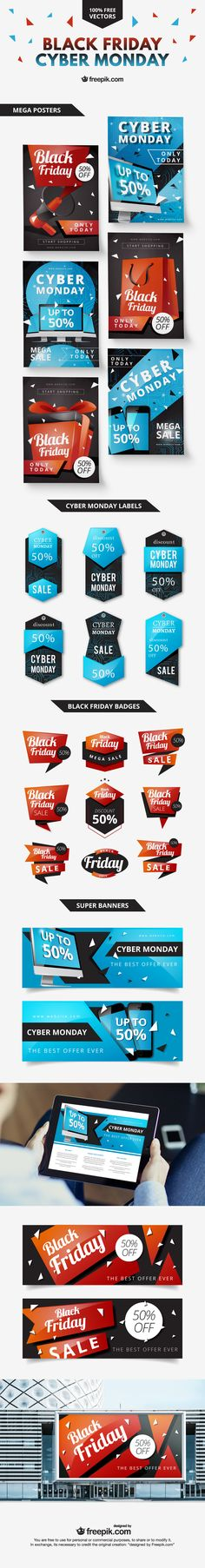 free black friday posters & website banners