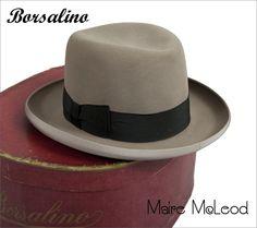 RARE 1930's BORSALINO Alessandria Homburg w / Original Box * 7-1/4