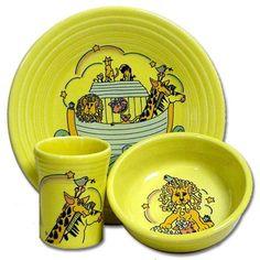 fiestaware childrens fiesta dishes   Fiesta® Cruisin' Noah's Ark Childrens Set on Sunflower - RETIRED