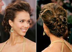 The 10 Best Latina Celeb Hairstyles Ever at the Oscars: Jessica Alba   Latina