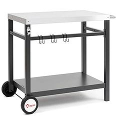 BBQ-Toro Barbecue 85 x 50 x 81 cm | Table d'appoint | Chariot à barbecue | Cuisine d'extérieur Bbq, Kitchen Cart, Servent, Comme, Ranger, Crochet, Home Decor, Ferris Wheels, Countertop