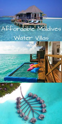 Ten of the best resorts in the Maldives with affordable accommodation in over-water villas and bungalows, offering panoramic views and direct lagoon access. Maldives Destinations, Maldives Vacation, Travel Destinations, Maldives Honeymoon, Maldives Resort, Vacation Places, Dream Vacations, Vacation Spots, Places To Travel