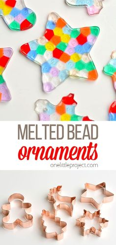 These melted bead ornaments are SO BEAUTIFUL! And they are so easy to make with pony beads! You can hang them on the Christmas tree, or use suction cup hooks on the window to turn them into sun catchers. Beaded Christmas Ornaments, Christmas Crafts, Christmas Tree, Melting Beads, Pony Beads, Sun Catcher, Easy Crafts, Handmade Christmas Crafts, Teal Christmas Tree