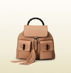 Rose Beige Bamboo Leather Backpack; $2,590.00