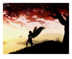 Angel at Dawn  Giclee Print  by Julie Fain
