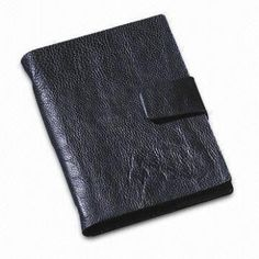 Notebook with Leather Cover, Available in Sizes Office Stationery, Leather Cover, Tote Bag, Pocket, Notebooks, Fabric, Gifts, Bags, Tejido