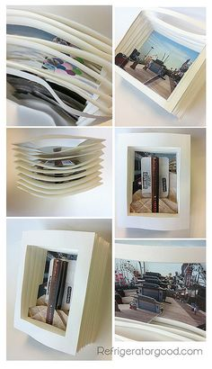 Artwork worthy of magnet.: Tunnel Books // Digital Photography Lesson IDEAS FOR FINAL PIECE - Create a 3 D scene using own photographs and layering on card Photo Projects, Digital Photography, Photography Projects, Photography Lessons, Digital Photography Lessons, Photo Lessons, Digital Photography Classes, School Photography, 3d Photography