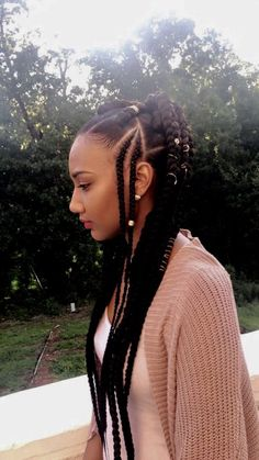 43 Cool Blonde Box Braids Hairstyles to Try - Hairstyles Trends Box Braids Hairstyles, French Braid Hairstyles, My Hairstyle, African Hairstyles, Thin Hairstyles, Teenage Hairstyles, Hairstyles 2016, Hairstyle Ideas, Blonde Box Braids