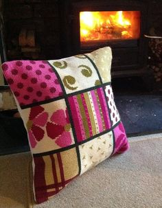 Cross Stitch Borders Items similar to Bright Patchwork Cross Stitch Kit with Cushion Making Instructions on Etsy - Cross Stitch Cushion, Cross Stitch Rose, Cross Stitch Borders, Crochet Borders, Cross Stitch Kits, Cross Stitch Embroidery, Cross Stitch Patterns, Hand Embroidery Videos, Embroidery Patterns