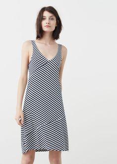 Seam detail dress | MANGO