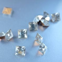 12 Art Deco Vintage New Old Stock Clear 6mm Cut by prettyinprague2, $3.00