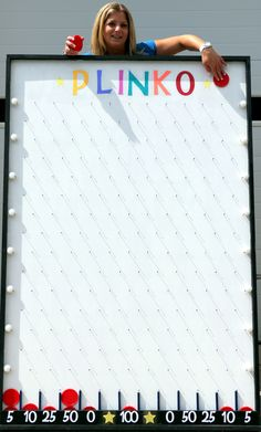 Plinko is ideal for casino and carnival themes, grand openings, school or . Plinko is ideal for casino and carnival topics, large openings, school or trade … – It's your move – School Carnival Games, Spring Carnival, Diy Carnival Games, Carnival Decorations, Carnival Food, Carnival Ideas, Theme Carnaval, Fall Festival Games, Vegas Party
