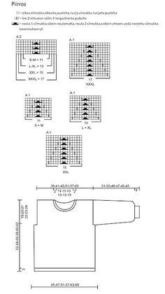 RKNITS SKÅBU NEULEOHJE | YKSINKERTAINEN GANNI KUVIO VILLAPAITA OHJE | Reetta Pelli Drops Design, Floor Plans, Knitting, Diy, Crafts, Manualidades, Tricot, Bricolage, Breien
