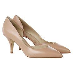 Hobbs London Alana Court Shoes, Foundation Pink
