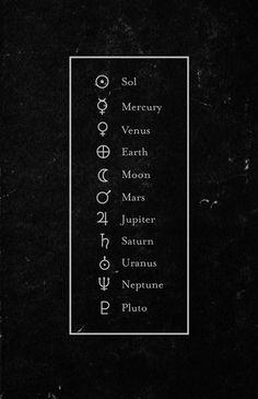 各天体を表す記号