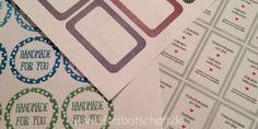 Freebies: Etiketten und Verpackungen zum ausdrucken - ♥ Herzbotschaft.de