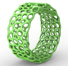3D printed jewelry. Bubble bracelet by Cubify.