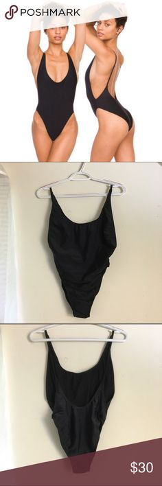 AA Nylon Tricot High-Cut One Piece Swim Classic high cut swimsuit with side boob opening. Perfect blend of modest and sexy. NWOT, tried on, never worn. Newer version  fits true to size (large). American Apparel Swim One Pieces