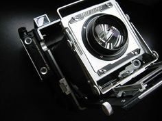 Graflex press camera- can you believe this was the most compact camera available to photojournalist back in the day?
