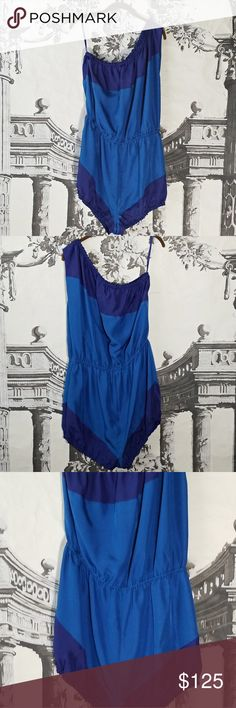 Marc by Marc Jacobs Silk Romper Marc By Marc Jacobs Silk Romper     • A rare find! Beautiful blues!     • Color: Parisian Blue     • 100% Silk Marc By Marc Jacobs Pants Jumpsuits & Rompers