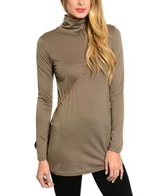 Another great find on #zulily! Stanzino Brown Turtleneck Sweater - Women by Stanzino #zulilyfinds
