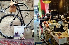 Lola Bikes and Coffee in The Hague. #bike #cafe