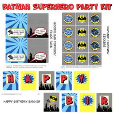 I was pretty excited when a fabulous customer of mine asked me to do a Batman party kit seeing how my boys LOVE superheroes (see superhero b...