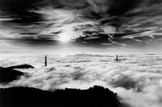 cloudy view of golden gate