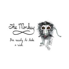 Sketch of the day no 778 in my monologue art journal: The Monkey. I'm ready to take a risk