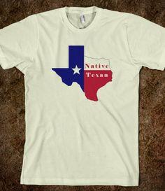 Native Texan Flag Map