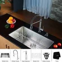 Kraus Stainless Steel 32 Inch Undermount Single Bowl Kitchen Sink and Chrome Dual Pull-Out Spray Head Faucet and Dispenser, Chrome