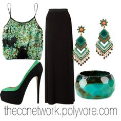 Maxi Skirt Outfit by theccnetwork on Polyvore