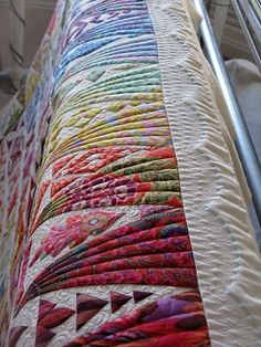Beautiful machine quilting lines.