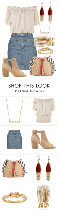 """""""Sans titre #4095"""" by kina-ashley ❤ liked on Polyvore featuring Sydney Evan, Topshop, Sole Society, New Look, The Sak, LC Lauren Conrad and Astley Clarke"""