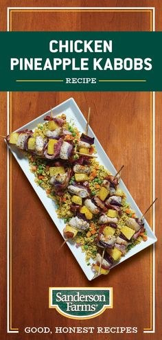 One bite of our tender chicken, sweet pineapple and smoky bacon and you'll become an instant fan. Kabob Recipes, Grilling Recipes, Appetizer Recipes, New Recipes, Cooking Recipes, Favorite Recipes, Healthy Recipes, Healthy Tips, Healthy Meals